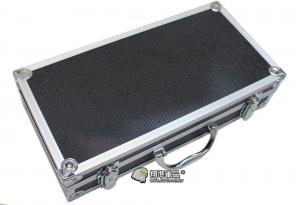 【翔準軍品AOG】40X20X9 鋁箱 槍箱 釣竿 寶石 黃金 箱子 託運箱 化妝 雷刻 海綿 P0112A