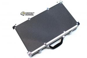 【翔準軍品AOG】50X28 鋁箱 (黑) 槍箱 釣竿 寶石 黃金 箱子 託運箱 化妝 P0108