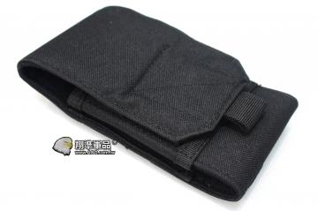 【翔準軍品AOG】 8347# 手機包 彈匣包 <黑色> 手機袋 腰包 魔鬼氈 戶外包 登山包 P2910-1