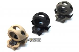 【翔準軍品AOG】 頭盔槍燈夾19mm(黑/灰/沙) 快拆款 鋼盔 膠盔 有默魚竿就可以用 TB369