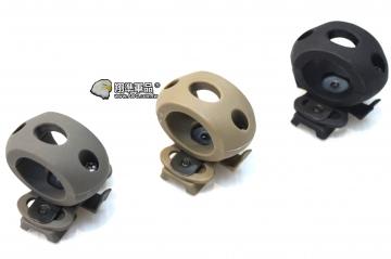 【翔準軍品AOG】 頭盔槍燈夾25mm(黑/灰/沙) 快拆款 鋼盔 膠盔 有默魚竿就可以用 TB370