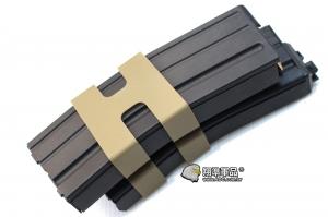 【翔準軍品AOG】 【WE】M4雙彈匣80發瓦斯匣(黑) 瓦斯槍 金屬  生存遊戲 雙排彈匣 D-01-031-1