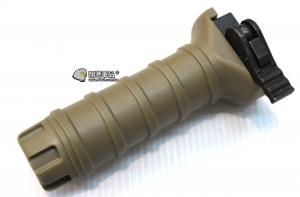 【翔準軍品AOG】 快拆握把12公分 沙 快拆 寬軌 12cm 戰術 塑膠 握把 快速變換 C0210