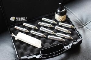 【翔準軍品AOG】CO2手槍5配件 10支CO2鋼瓶+0.2BB彈500發+迷你罐子+填彈器+OFC塑膠箱 套件 超值 組合
