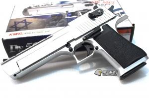 【翔準國際AOG】【KWC】 沙漠之鷹 CO2 銀色 CO2 鋼瓶 手槍 拆卸 半金屬 後座力 生存遊戲 D-07-19-1