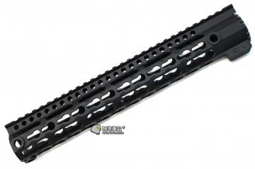 【翔準軍品AOG】 12吋金屬(用M4系列) Keymod 鑰匙孔 魚骨 寬軌 戰術 全金屬 魚骨 護木 31cm C0705AB