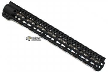 【翔準軍品AOG】 15吋金屬(用M4系列) Keymod 鑰匙孔 魚骨 寬軌 戰術 全金屬 魚骨 護木 39cm C0705AC