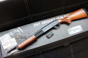 【翔準國際AOG】S&T 手拉空氣槍 M870 middle 散彈槍 BB槍 全金屬 實木  DA-SPG-07