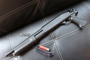【翔準軍品AOG】CYMA  M870  PISTIL GRIP 散彈槍 付彈殼 手拉空氣槍 拉一打三 超值散彈槍 DA-CM351