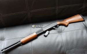 【翔準國際AOG】S&T 手拉空氣槍 M870 middle 散彈槍 BB槍 全金屬 實木 DA-SPG-06