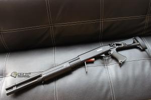 【翔準軍品AOG】 CYMA M870 長 FOLDING 散彈槍 付彈殼 手拉空氣槍 拉一打三 超值散彈槍 DA-CM353L