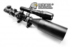 【翔準軍品AOG】(霸氣6套瞄準鏡)3-9X50 全配 + T6燈 + 紅外線 +8字環X2+ 夾具 瞄準器 金屬材質 高清晰