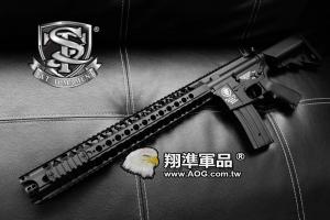 【翔準軍品AOG】【S&T】M4 WCRS 16.2 金屬槍身 電動槍 生存遊戲 魚骨 槍托 握把DA-ST-AEG-80-BK