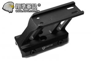 【翔準軍品AOG】 高級版T1/T2境橋座 內紅點 刻字 高級 特殊外型 黑色 B02010-5