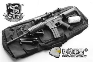 【翔準國際AOG】S&T 七套件 M4A1 半金屬電槍(3-9X32狙擊鏡+槍袋+魚骨片+握把+3000發BB彈+罐子+M4A1電槍)