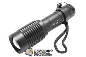 【翔準軍品AOG】L2 強光伸縮手電筒 可調焦距  金屬材質 露營 夜間巡邏   L020-02