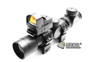 【翔準軍品AOG】(前鋒組)2-6X28 狙擊鏡 電動槍 瓦斯槍 雷射 賞鳥 生存遊戲 手槍 魚骨 紅綠光 貓頭鷹 600型 快瞄 迷你型內紅點