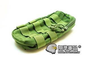 【翔準軍品AOG】 翔野 大型垂直雜物包 綠色 雜物包生存軍事彈匣袋 FPH-C024-2