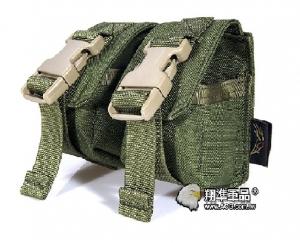 【翔準軍品AOG】FLYYE_雙聯攻擊手雷包 綠色 雜物包模組化戰術背心生存FPH-G005-2