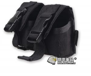 【翔準軍品AOG】FLYYE_雙聯攻擊手雷包 黑 雜物包模組化戰術背心生存FPH-G005-1