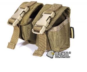 【翔準軍品AOG】FLYYE_雙聯攻擊手雷包 泥色 雜物包模組化戰術背心生存FPH-G005-5