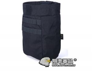 【翔準軍品AOG】 FLYYE_桶型彈匣回收袋黑色 迷彩包雜物包戰術背心生存 FPH-M028A