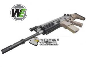 【翔準軍品AOG】沙色~WE SCAR H 長板全金屬電動槍,電槍金屬 BOX,強磁馬達
