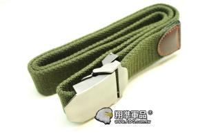 【翔準軍品AOG】瑞士 軍帆布 OD GREEN 男士 韓版 腰帶 P901AA