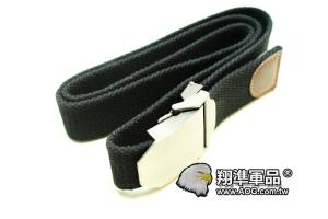 【翔準軍品AOG】瑞士 軍帆布 黑色 男士 韓版 腰帶 P901AA