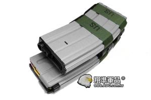 【翔準軍品AOG】【M4 灰色電動槍彈鼓】裝飾彈 電動槍 自動上彈 (KWA WE LCT G&G )D-10-26GA