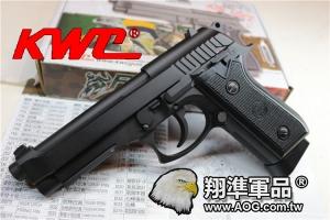 【翔準國際AOG】【KWC】 PT92 CO2 黑色 CO2 鋼瓶 手槍 拆卸 金屬 後座力 生存遊戲 D-03-20