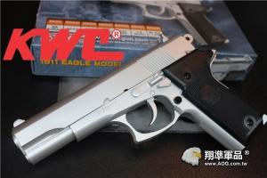 【翔準軍品AOG】玩具槍 BB槍 建瑋 KWC KA16C 1911 銀黑 空氣槍 D-03-13-2