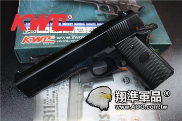【翔準國際AOG】【KWC】 1911 KA 11 空氣 手拉 手拉 手槍 生存遊戲 D-03-01KWC 1911 空氣手槍 BB槍