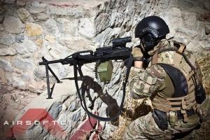 【翔準軍品AOG】Raptor Airsoft PKP 全金屬電動輕機槍  5000發彈鼓+ 9mm培林金屬BOX+金屬腳架