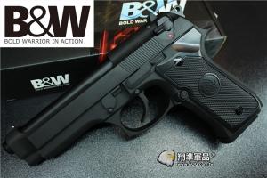 【翔準軍品AOG】B&W M9金屬滑套瓦斯手槍 (已升級海神精密管+海神皮、射程60米)-POSEIDON DPBW-92B