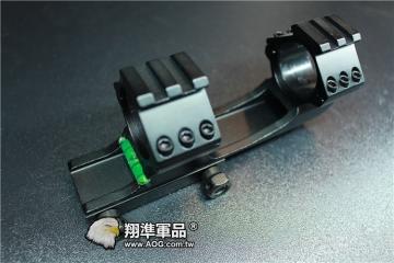 【翔準軍品AOG】 固定式 30/25mm 水平儀 魚骨 夾具 金屬殼 螢光水 校正 多方面 B05023AB