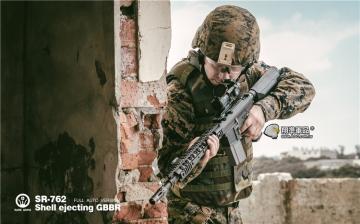 【翔準軍品AOG】2017年最新版~Rare Arms SR-762 GBBR 全自動 退拋殼CO2槍~