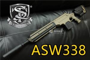 【翔準軍品AOG】s&t ASW338 沙 狙擊槍 特種部隊 美軍 精準射擊 準度 DA-PG01SST