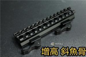 【翔準軍品AOG】增高 斜魚骨 鏡橋 M4 HK416 MP7 斜魚骨 45度 軌道 戰術 側邊 魚骨 B05032A
