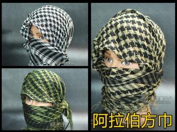 【翔準軍品AOG】阿拉伯 方巾 戰術圍巾 防風保暖頭巾男女大圍脖純棉加厚 I002
