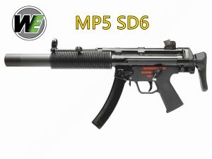【翔準軍品AOG】WE MP5 SD6 GBB 滅音管版 伸縮托 全金屬 瓦斯氣動槍 GT09800R
