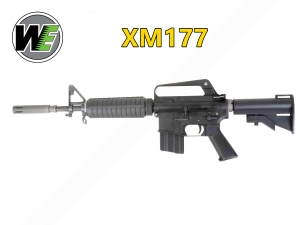 【翔準軍品AOG】全開膛版 黑色 WE XM177 GBB 全金屬瓦斯氣動槍