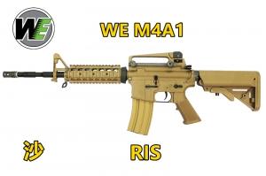【翔準軍品 AOG】《WE》 M4 M4A1 RIS(沙) 全金屬電動槍 強磁馬達版 D-06-4-03A