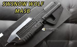 【翔準國際AOG】SNOW WOLF MA5B HALO 衝鋒電動槍 最後一戰 異形 電動槍 DA-SWMA5B