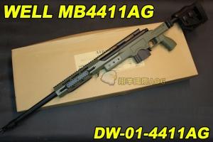 【翔準軍品AOG】WELL 4411AG 綠色 狙擊槍 手拉 空氣槍 BB 彈玩具 槍 DW-01-4411AG