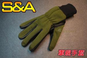 【翔準軍品AOG】(兩棲款)全指手套(綠)(3131) 軍規 戰術手套 健身 射擊 登山 騎車 防BB彈 SNA7IB