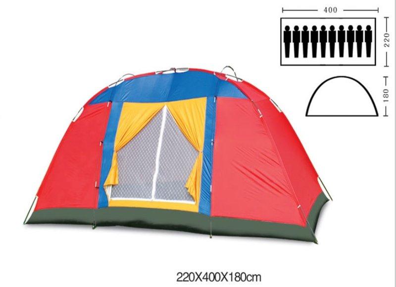 【 翔準軍品AOG】(諾)十人帳篷 戶外露營 加長加寬單層 10人帳篷 生存遊戲 (顏色隨機) ZP025