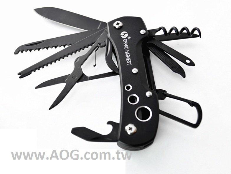 【翔準軍品AOG】黑武士瑞士刀 鈦黑11開瑞士軍刀 多功能工具組 LG046