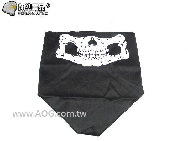 【翔準軍品AOG】反光骷髏三角-黑 面罩 面具 口罩 E0409-3