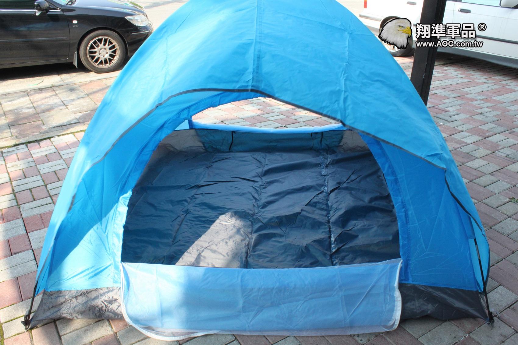 【翔準軍品AOG】三人至四人雙層雙門帳篷 湖畔營 加外帳 登山露營LGE001-10